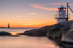 Evening color (johanbe) Tags: sunset solnedgng klvafyr lighthouse hn gteborg vstkusten evening kvll landscape skrgrd color sky sea hav water klippor