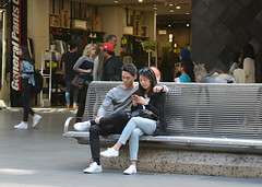 Life in the fast lane (PhotosbyDi) Tags: candid people street bourkestreetmall melbourne city victoria phones nikond600 nikonf282470mmlens