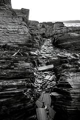 slate layers (Cano Vri) Tags: 2016 bw hamnfjord porsangefjorden rock slate stones finnmark norway no olympus em1