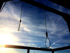 Hanging Day (Everything_Morbid) Tags: noose hang hanging gallows rope sky blue morbid