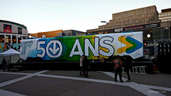 50 ans mtro Montral (6) (Alexander Ly) Tags: stm societe de transport montreal quebec canada metro subway train transit 50ansmtromtl anniversary anniversaire 50e 50th canadian vickers mr63 mr 63 autobus bus art street