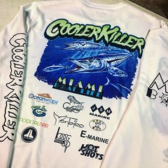 Custom sublimation and screen printed Dri-Fits for @miamiboatlife @cooler_killer thanks to @thecaptainrobin for letting us do our thing #clutchcityinc #clientwork #sublimation #boatlife #silkscreen #screenprinting #saltlife #boats #fishing #fishingtournam (Clutch City Inc) Tags: clutch city apparel fashion street wear swag fresh miami sports fly style dope gear