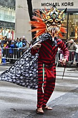 Parade Creature (Read2me) Tags: nyc pree she cye candid person costume parade walk thechallengefactorytcfunanimousnovember ge
