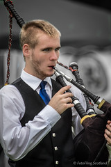 Piper (FotoFling Scotland) Tags: argyll dunoon event highlandgames piper scotland bagpipe beard cowalgathering scottish