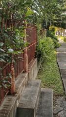 "cure-all (listening to ""all i want"", dawn golden) (jeneksmith) Tags: sidewalk greenery hff rust fence neighborhood urban city esplanadeavenue faubourgstjohn bigeasy crescentcity neworleans louisiana canon"