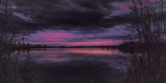 Etude #161030DSC2720. (ptrbsh30) Tags: digitalphoto digitalart landsape nature river evening sky clouds water reflection colors blue purple