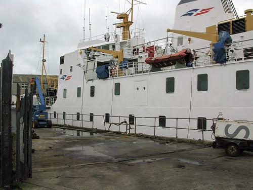 Penzance: Scillonian III in dry dock