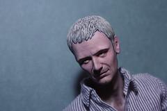 Sort of Portrait (pseudanonymous) Tags: handmade headsculpt head actionfigure 16 doctorwho themaster johnsimm sculpting sculpt acrylicpaint portrait painting resin resincast polyurethane polyurethaneresin polymerclay