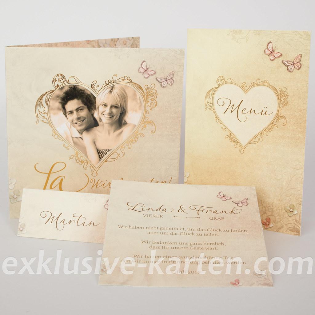 Hochzeitskarten wir haben geheiratet