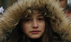 Portrait (Natali Antonovich) Tags: portrait winter christmasholidays stare grandplace sweetbrussels brussels belgium belgique belgie hood