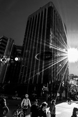 Metropolitan sunset (Richard Mart1n) Tags: sunset travel perth city abstract art monochrome blackandwhite nikon d5000 black white streetphotography street australia