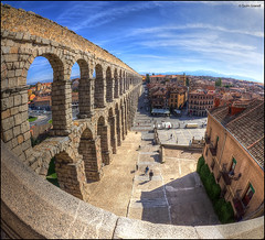 (2384) Segovia (Spain) Fisheye world (QuimG) Tags: segovia spain architecture arquitectura fisheye golden landscape paisaje paisatge olympus quimg quimgranell joaquimgranell afcastelló specialtouch obresdart