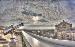 #155 (mariopolicorsi) Tags: mariopolicorsi canon eos 450d fisheye samyang 8mm hdr hdraward photoshop photomatix città city cityscapes cielo sky skyescapes parigi paris ottobre october autunno autumn simplysuperb capitale capital europa europe france francia nuvole clouds gallerie lafayette architettura architecture