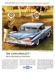 '59 Chevrolet - The car that leads your kind of life! (Tom Simpson) Tags: 1959 1950s chevrolet chevy 1959chevrolet 59chevrolet car classiccars vintage ad ads advertising advertisement vintagead vintageads