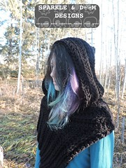 Huntress Hooded Cowl 03a (zreekee) Tags: crochet sparkledoomdesigns saskatchewan rhiannon cowl hungergames