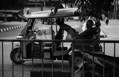 untitled (monomarv) Tags: blackwhite carsrbeautiful blackandwhite thailand cars tuktuk chill bw
