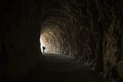 Caminando hacia la luz............. (T.I.T.A.) Tags: otoo navarra hojas hayedo hayas tunel fotografo fozdelumbier rioirati