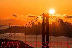 Happy Thanksgiving (Jaykhuang) Tags: goldengatebridge northtower alignmentspot pyramidbuilding bayarea downtown sunrise sanfrancisco california lineup thanksgiving 11242016