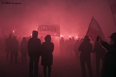 _ATI6211 b (attila.husejnow) Tags: nationalism nationalst poland warsaw farright far right burning flare flares march independence day mask flag ksenophobia xenophobia homophobia anti islam racist