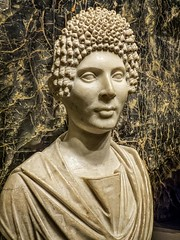 Funerary Portrait of a Woman said to be from Alexandria, Egypt Roman 120-130 CE Marble (mharrsch) Tags: woman female portrait bust curls hairstyle roman egypt alexandria 2ndcenturyce ancient sculpture nelsonatkins museum kansascity missouri mharrsch marble