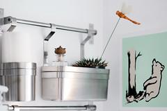 Grundtal & Pooh (Benn Gunn Baker) Tags: benn gunn baker canon 550d t2i bristol ikea pooh grundtal kitchen storage winnie banksy style bear trap