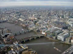 St Pauls from open deck of Shard (streetr's_flickr) Tags: theshardoflondon highrise panorama tallbuildings structures architecture london city riverthames bridges