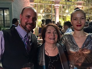Artists Mark Osterman and Mira Lehr with curator Gina Wouters at the Vizcaya 100th Gala