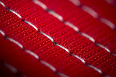 Macro Monday - Stitch (326/366) (AdaMoorePhotography) Tags: macro macromonday monday nikon d7200 105mm 105mmf28 closeup stitch red white