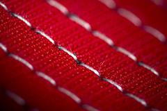 Macro Monday - Stitch (326/366) (AdaMoorePhotography) Tags: macro macromonday monday nikon d7200 105mm 105mmf28 closeup stitch red white