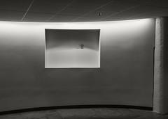UMASS Hall (frntprchprss) Tags: umass amherst hall ceiling floor rectangle outlet jamesgehrt blackandwhite