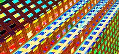 abstract (Sonja Parfitt) Tags: building color bright windows painted manipulated