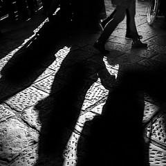 italian Shadows 1 (cuvato rocco) Tags: shadows ombre altocontrasto sanpietrini firenze roccocuvato bianconero blackandwhite persone people
