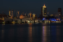 Hamburg - Harbour at Night (superbart77) Tags: city dusk elbe hdr hafen hafencity hamburg harbour night river ship pier