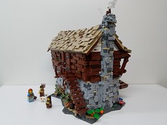 Lego medieval watermill (ben_pitchford) Tags: lego castle medieval watermill landscape