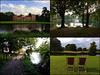 The Vyne tetraptych (amazingstoker) Tags: tetraptych sherbourne vyne basingstoke hampshire john national trust lake st nt saint light deckchair tree home stately gate path collage double diptych walk garden