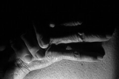 But they're beautiful in their ugliness (may-in-june) Tags: mono monochrome blackandwhite bw fabric dark fingers people skin contrast light texture wrinkled hands old elderly age