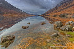 Etive Symmetry (Shuggie!!) Tags: hdr highlands hills landscape lochetive morninglight reflections rocks scotland storm water zenfolio karl williams karlwilliams