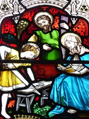 The Holy Family (Granpic) Tags: northumberland warkworth warkworthstlawrence warkworthchurch window stainedglass victorianglass vidreriadecolores vitrail wiliamfenwickmemorial holyfamily