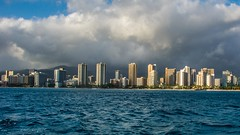 Waikiki (Oliver Leveritt) Tags: nikond7100 afsdxvrnikkor18200mmf3556gifed oliverleverittphotography hawaii oahu waikiki waikikibeach skyline buildings shore clouds sea ocean