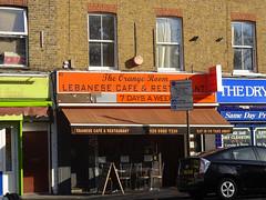 Orange Room, Mile End, London E3 (Kake .) Tags: london mileend bow e3 lebanese cafe restaurant