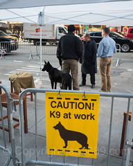 NYPD Canine Police Checkpoint on Sixth Avenue, Midtown Manhattan, New York City (jag9889) Tags: jag9889 usa signboard k9 manhattan newyork outdoor 2016 animal metal canine text midtown policeofficer newyorkcity dog nypd checkpoint caution 20161128 sixthavenue barrier cop creature finest firstresponder lawenforcement ny nyc newyorkcitypolicedepartment officer police policedepartment unitedstates unitedstatesofamerica us