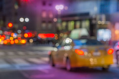 Cab on Fifth (JMS2) Tags: bokeh night citylights cab taxi fifthavenue nyc manhattan streetscape blurred motion