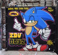 Sonic (HBA_JIJO) Tags: streetart urban graffiti art france artist hbajijo wall mur painting aerosol peinture graff murale spray paris92 bombing rideau charactere store video steel jeux