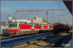 OBB Class 1014 (Zoly060-DA) Tags: romania cluj napoca rail station obb class 1014 bo electric locomotives tanker train locomotive red white blue grey sky siemens austria wien sud