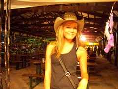100_2357 (cowboy chris bbq) Tags: rodeo blonde warrenton mo missouri warrencountyfair cowboyhat hat advertising cowboychrisbbq festival festivals marketing promo promotion promotional cowgirl girl woman female cute hot sexy pretty