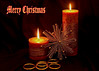 Merry Christmas. (Jicardee29) Tags: christmas card candles rings star gold