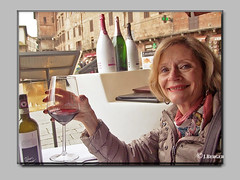Salute from Siena (The Bop) Tags: boston places chanti bottle glass happy smiling cool old town sunny
