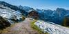 K_091 Bärenbad-Alm (wenzelfickert) Tags: bärenbadalm karwendelgebirge alpen tirol forstweg hütte cottage lodge landscape wandern hiking himmel sky berge mountains schnee snow österreich austria wanderweg trail