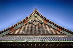 Kyoto Roof (orkomedix) Tags: kyoto japan roof hdr nik canon 6d 24105l outdoor blue sky