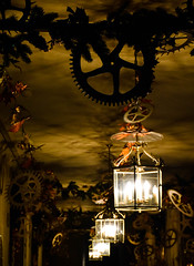 Clockwork (littlestschnauzer) Tags: cogs time chatsworth house uk decorated xmas christmas nutcracker theme 2016 pretty shadows lanterns light corridor december